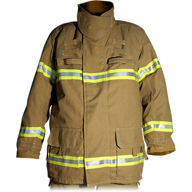 S&H Fire Coat J401 Structural Level 2 - PBI Gold with MB