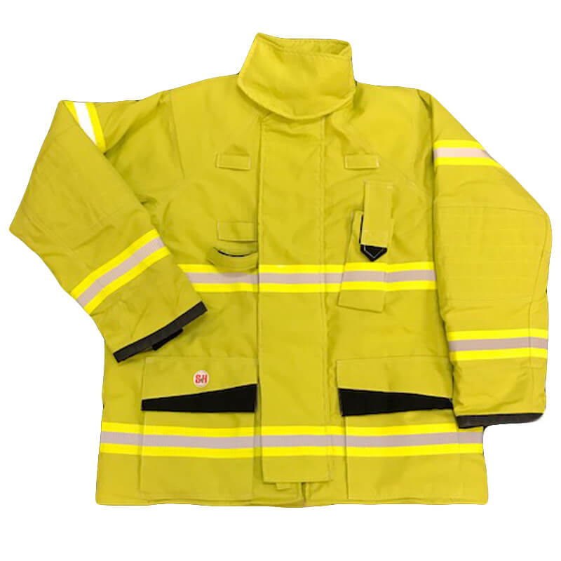 S&H Fire Coat/Jacket J733 Structural Level 2 - Protex Lime Green