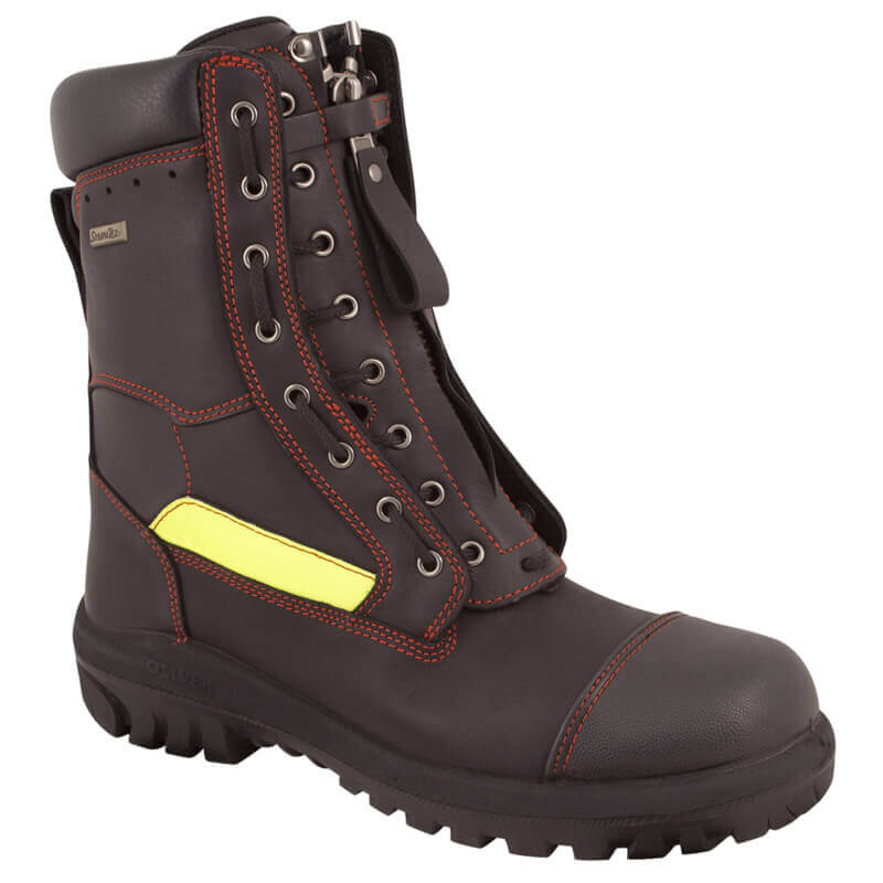Fire Boot 66-495 Structural Lace Up w Front Zip - Level 2 (230mm)
