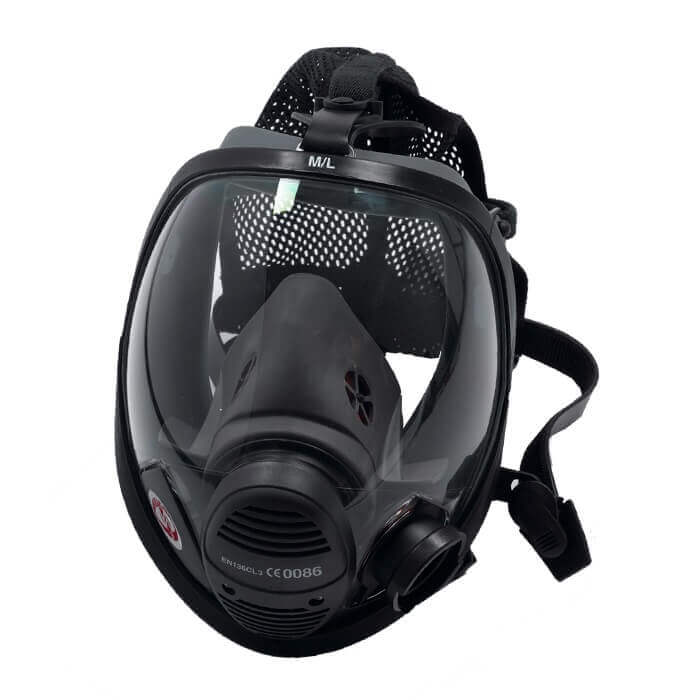 Vision 3 PP Full Face Mask - Left Quick Fit c/w Harness