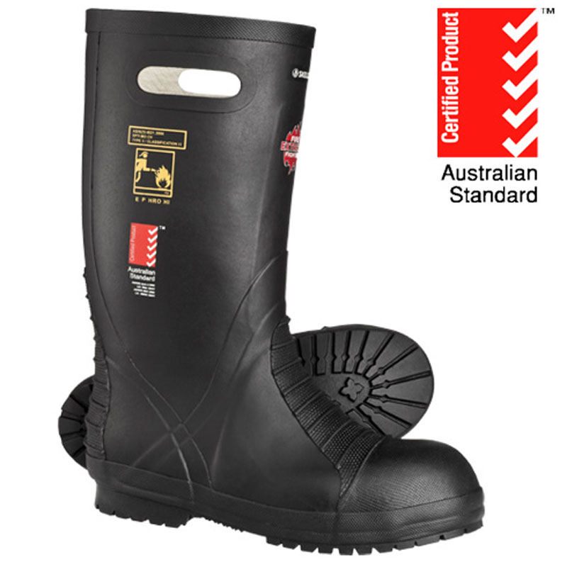 Skellerup Fire Fighter Extreme Rubber Boot - Black - Type 3