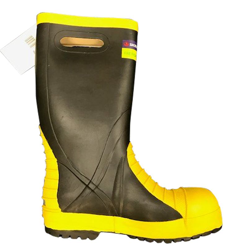 Skellerup Fire Fighter Rubber Boot - Black/Yellow
