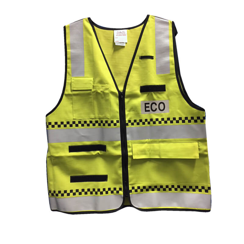 ECO - Proban Vest with Panel - ECO (Entry Control Officer) - Lime/Yellow - Size XL