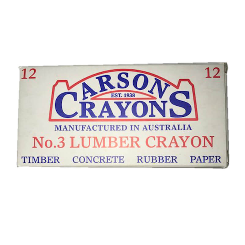 Industrial Crayon - Yellow - 12 Pack