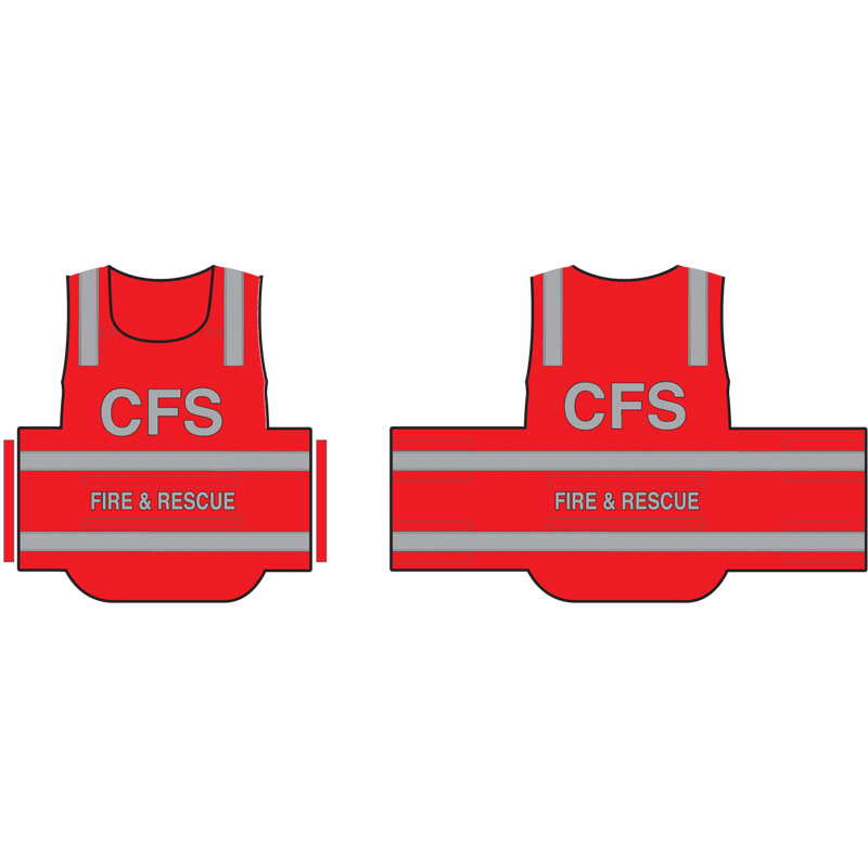Tabard - High Visibility - CFS Fire & Rescue (Certified)