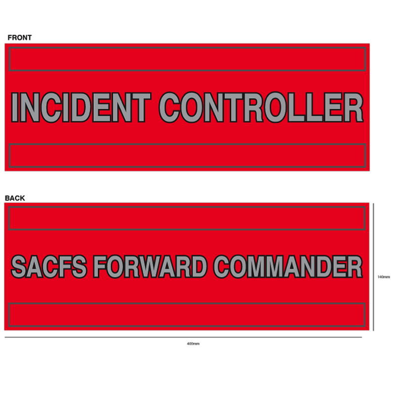 Reversible Tabard Panel - Incident Controller/Forward Commander