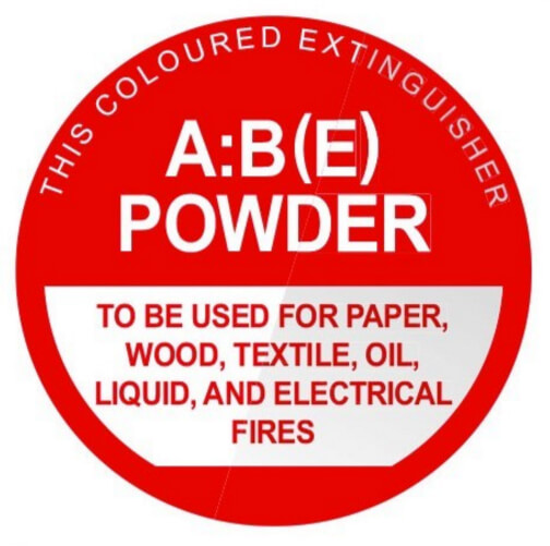 ABE Dry Chemical - Identification Sign