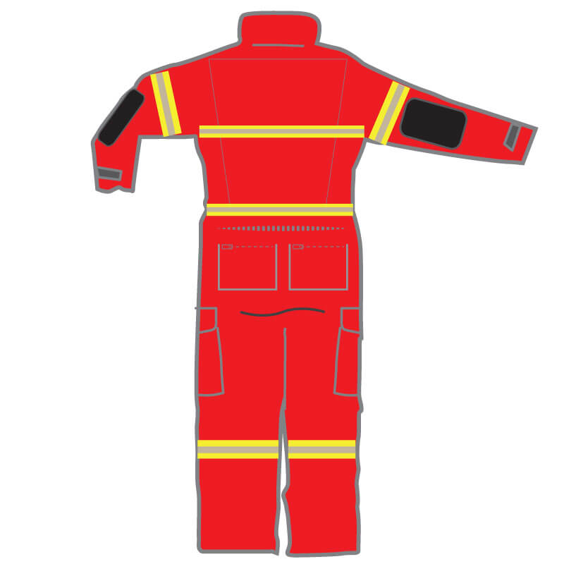 S&H FRSA Coveralls Rescuepro 2 - Red