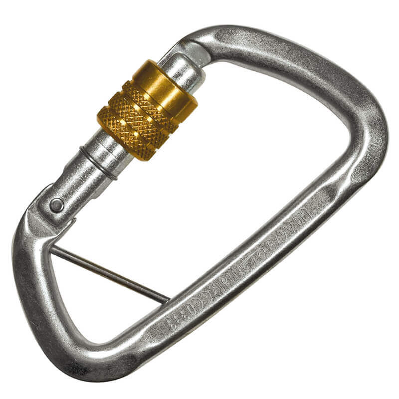 Steel Screw Gate Karabiner 50 Kn - Gate Opening 19mm
