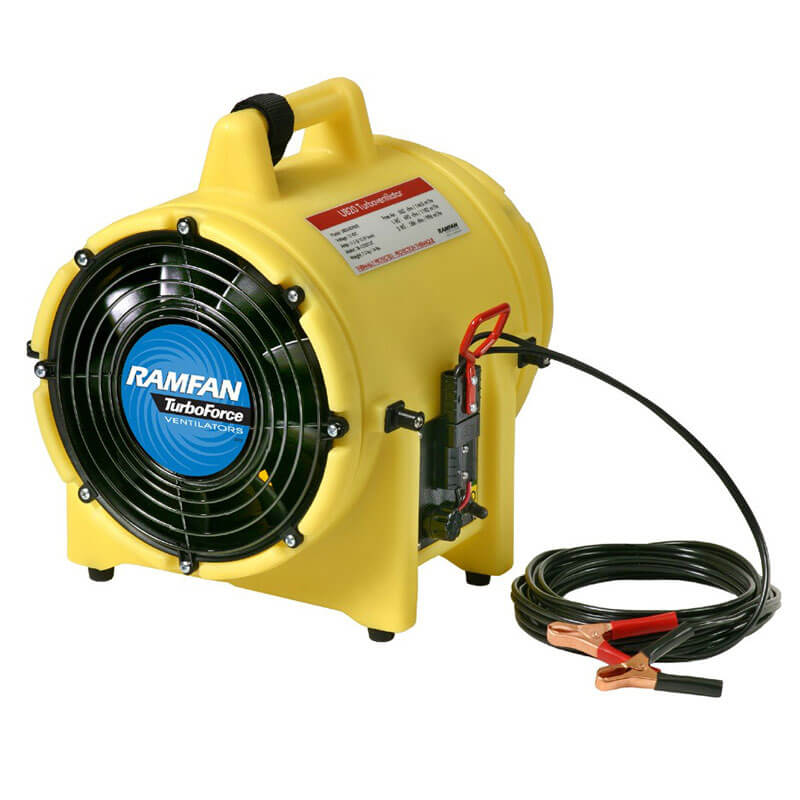 RamFan (Electric) UB20 (12V) Ventilator w/ Canister -15ft Duct