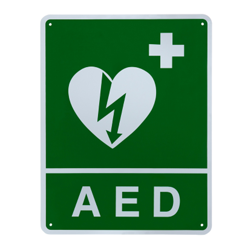 AED 3 - ILCOR Flush Wall Sign
