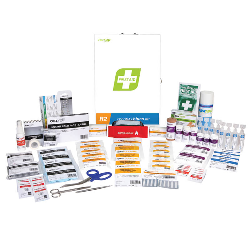 First Aid Kit-R2 - Foodmax Blues - Metal Wall Mount