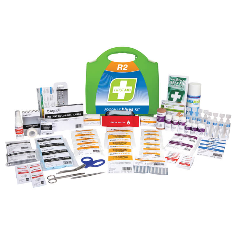 First Aid Kit-R2 - Foodmax Blues - Plastic Portable