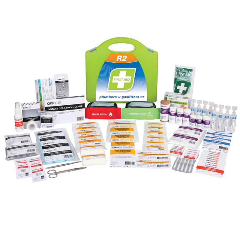 First Aid Kit-R2 - Plumbers & Gasfitters - Plastic Portable