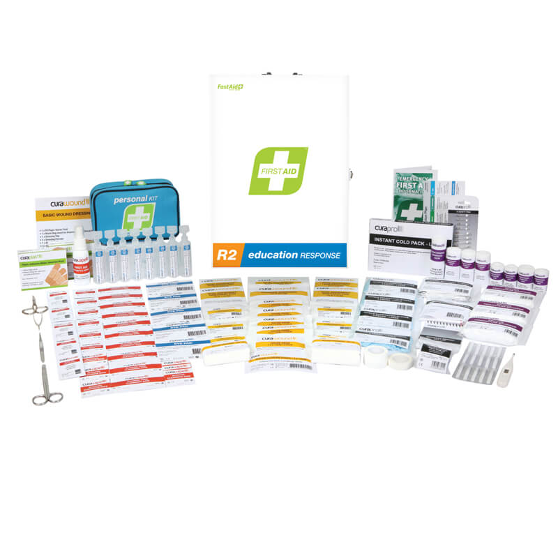 First Aid Kit-R2 - Education Response - Metal Wall Mount
