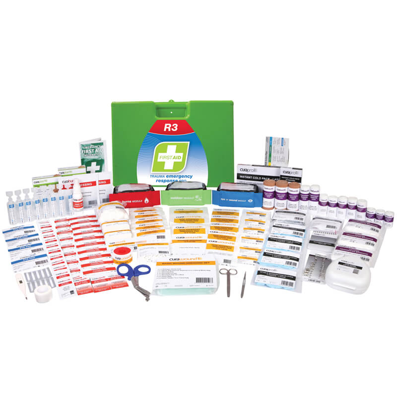 First Aid Kit-R3-Trauma & Emergency Response Pro - Plastic Portable